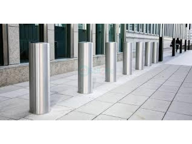 High Security Automatic Rising Bollard Installation - 1/1