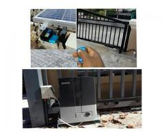 Solar powered motorised gate solution