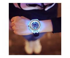 Generic Geneva LED Backlight Sport Waterproof Quartz Wrist Watches