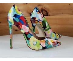 Red cherry Multi colour court shoes Size 36-41