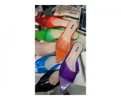Pointed Transparent Slippers size 37-41