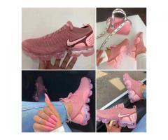 Flashy pink footie (foot wear)