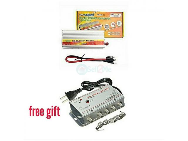 SUOER 2000watts Inverter With Modified Sine Wave Inverter With Free 4ways Signal Booster - 1/1