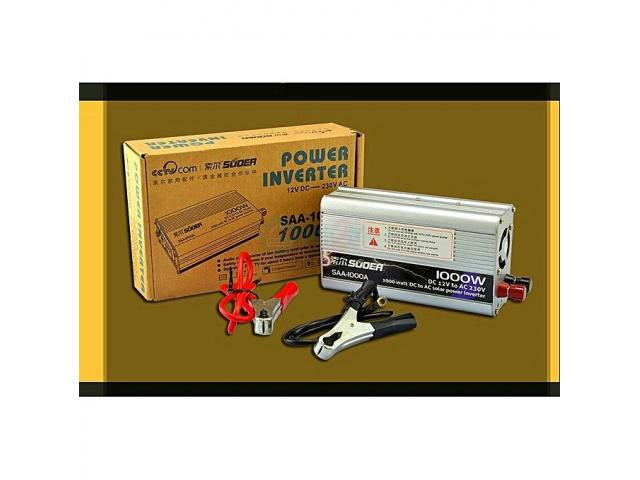SUOER 1000watts Inverter 12volts With Battery Clip - 1/5