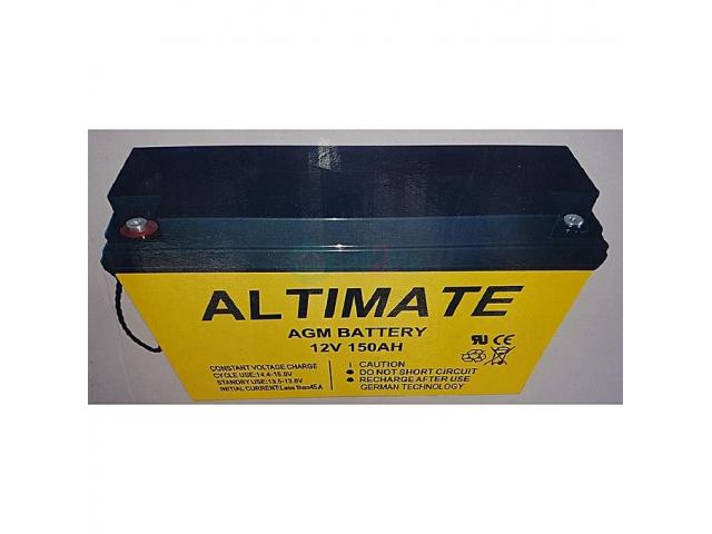 Altimate 150AH 12V AGM Inverter Battery (German Technology) - 1/1