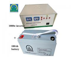 Famicare Inverter 1000w 1pc + Battery100Ah 1pc