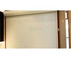 White Perforated Rolling Shutters Garage Door BY HIPHEN SOLUTIONS