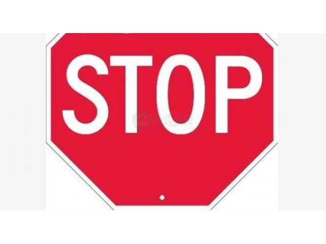 60cm Aluminum Reflective Octagonal Stop Sign by HIPHEN SOLUTIONS - 1/1