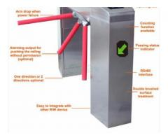 Waist Height Tripod Turnstile Intelligent Access Control BY HIPHEN SOLUTIONS