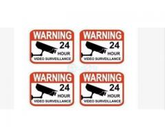 Video Surveillance Stickers Sign BY HIPHEN SOLUTIONS