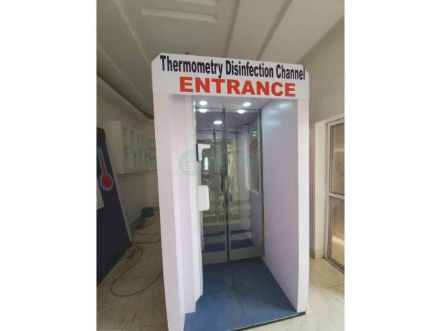 Automatic DisinfectionChannel Booth in Nigeria by Hiphen Solutions - 1/1