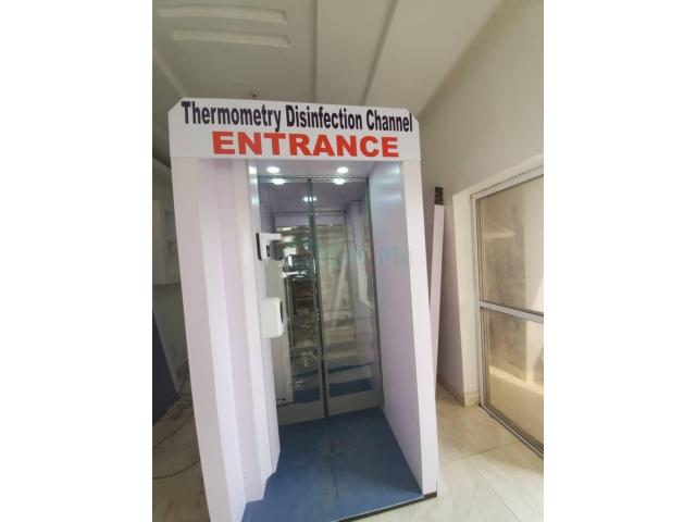 Effective Auto Disinfection Entrance Booth in Nigeria by Hiphen Solutions - 1/1