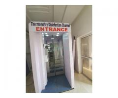 Effective Auto Disinfection Entrance Booth in Nigeria by Hiphen Solutions
