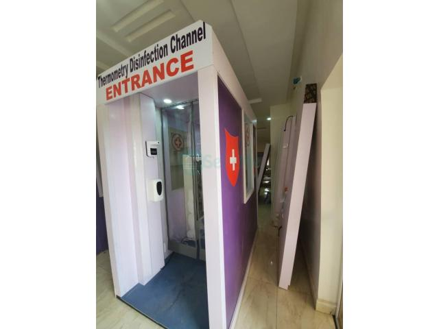 Bank Entrance Disinfection Chamber Booth in Nigeria by Hiphen Solutions - 1/1