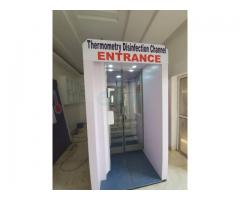Bank Entrance Disinfection Chamber Booth in Nigeria by Hiphen Solutions